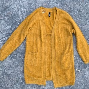 NWOT mustard cardigan